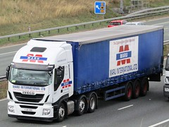 MARU International, IVECO A1M Southbound. (Gary Chatterton 4 million Views) Tags: maru international iveco truck trucking wagon lorry hgv heavygoodsvehicle transport vehicle a1m motorway flickr explore photography canonpowershot