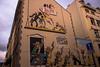 Mural Lucky Luke (Erasmusenflandes) Tags: mural luckyluke bandidos oeste cómics rutaliteraria rutadelcómic turismoliterario cultura lectura diversión bd