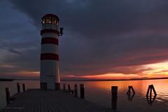 Lighthouse and the sunset (A. Meli) Tags: naplemente tó szeptember este sunset lake september evening sonnenuntergang see abend lighthouse autumn ősz