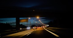 thank you for 1 500 000 views (blazedelacroix) Tags: night reflektor highway motion cars blazedelacroix blaisedelacroix stockholm suburbs arcade fire