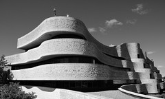 Ribbons and curves (joanneclifford) Tags: museum canada xf1855 fujifilmxt20 bw quebec gatineau canadianmuseumofcivilization architecture douglascardinal