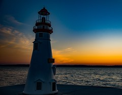 Torch Lake Lighthouse Sunset (Epperly Photographic Images) Tags: sunset torch lake michigan lighthouse