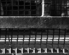 IMGP3514 (agianelo) Tags: metal plastic mesh tube railing shadow texture abstract monochrome bw bn blackandwhite