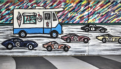 Walk The Walk (DetroitDerek Photography ( ALL RIGHTS RESERVED )) Tags: allrightsreserved 313 detroit mural race racecars gazcoombes supergrass walkthewalk hdr 3exp cars automobile icecream truck wall pain painted detroitderek september 2018 canon 5d mkii digital eos track midwest usa america downtown urban motown motorcity