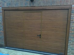 Hormann sectional with a wicket door