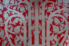 Thai-style texture on wooden wall (phuong.sg@gmail.com) Tags: abstract art asia asian background baroque bg black brown classical damask dark decor decoration decorative design elegance elegant element floral flower gold golden graphic illustration leaf luxury old ornament ornamental ornate pattern retro royal seamless silk striped style swirl texture thai thailand vector victorian vintage wall yellow