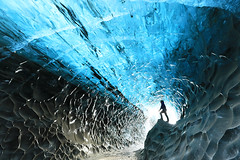 Ice cave in Iceland (picture taken in March) (lotusblancphotography) Tags: iceland islande ice glace cave grotte icecave nature