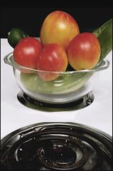 (Cliff Michaels) Tags: iphone8 photoshop pse9 stove vegetables fruit tomatoes cucumber bowel burner kitchen