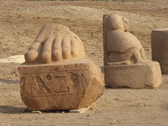 Sculptural Fragments, Tanis (Aidan McRae Thomson) Tags: tanis egypt archaeological site ancient egyptian sculpture statue