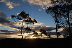 Sunset at Katoomba, Blue Mountains (RossCunningham183) Tags: sunset katoomba bluemountains nsw australia thethreesisters nationalpark clouds trees eucalypts eucalyptus echopoint