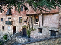 Rose Tinted (Jocelyn777) Tags: facade stone stonework doorsandwindows rose rosepink textured historictowns villages towns albarracin spain travel