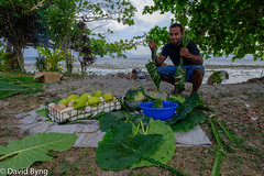 Vosa Wrapping Chicken for the Lovo (Dave Byng) Tags: 2018 fiji forestcamp operationwallacea southpacific vusaratu winter opwall homestay village earthoven lovo guide outdoorcooking celebration