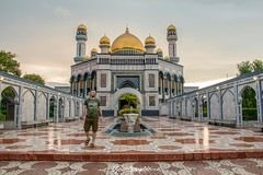 Agrabah (DjemoGraphic) Tags: jameasri brunei bruneidarussalam mosque lateafternoon agrabah 1001nacht arabiannights borneo tropical gold dome goldendome