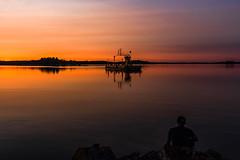 watching ferry crossing a lake (VisitLakeland) Tags: finland kuopio lakeland summer auringonlasku backlight evening ferry järvi kesä lake lossi luonto maisema nature outdoor scenery sun sunset vastavalo water