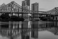 brisbane city b&w (Greg Rohan) Tags: reflection architecture buildings building skyscraper skyscrapers skyline cityscape city storybridge bridge bw blackandwhite monochrome water river brisbaneriver brisbanecity brisbane d750 2018 nikon nikkor