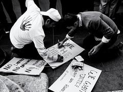 Safe the Child (Feldore) Tags: protestors placard dublin bangladesh road deaths feldore mchugh em1 olympus 17mm 18 street candid hand bloody protest demonstration demonstrators