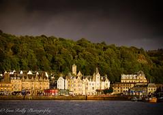 Oban Harbour (broadswordcallingdannyboy) Tags: oban argyleandbute port ferry scotland coast sea eveninglight dramaticsky scottishtown magichour light beautifullight harbour twilight
