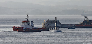 United States Navy USS Newport News (SSN-750) arriving at HM Naval Base, Gibraltar
