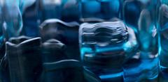 blue abstract (f8shutterbug) Tags: idb glass blue macro macromondays shapes texture abstract