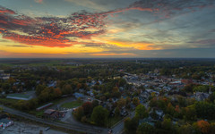 The Hoot Owl and Canton (Decaseconds) Tags: hdr northcountry drone quadcopter newyork canton bar sunset aerial hoot owl