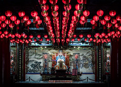 Red Lanterns (Cyclase) Tags: asia taiwan temple tempel asien red rot laterne lantern schrein shrine worship culture religion traditional prayer local altar tourism travel ceremony old