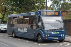 Diamond Bus NW MX58ACF (Mike McNiven) Tags: diamond bus northwest rotala trafford altrincham interchange optare solo broadheath retailpark