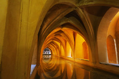in Seville (tatianakais) Tags: spain seville water architecture yellow