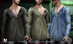 Darius Long Sleeve Hanley (AscendSL) Tags: sl hanley longsleeve fashion men ascend unbuttoned casual everyday style