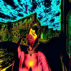 Brainsss (Carla Putnam) Tags: addams catwa woman surreal brains zombie art popart zombieart