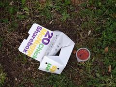 MacDonald's Refuse, Maendy Way, Cwmbran 8 September 2018 (Cold War Warrior) Tags: macdonald's litter cwmbran