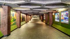 Brussels, Belgium: Belgica metro station (Line 6) (nabobswims) Tags: be belgica belgium brussels bruxelles hdr highdynamicrange ilce6000 lightroom metro nabob nabobswims photomatix rapidtransit sel18105g sonya6000 station subway ubahn
