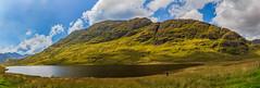 Loch Restil (milko hakimsan) Tags: argyleandbute field grass hill lake loch lochrestil mountain mountains mountainside outdoorlandscape scenery scotland scottish scottishscenery sky panorama