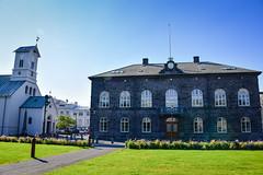 Dómkirkjan Cathedral and Parliament House - Reykjavik Iceland (mbell1975) Tags: reykjavík iceland is dómkirkjan cathedral parliament house reykjavik island ísland icelandic alþingi althingi or althing national þingvellir alþingishúsið government building federal assembly congress