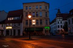 Cottbus am Gerichtsplatz (mariomüller1) Tags: cottbus nacht blauestunde natur deutschland city altstadt stadt