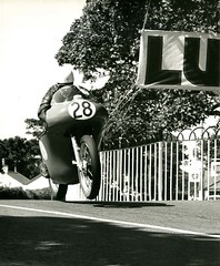International Junior TT - O'Rouke (British Motor Industry Heritage Trust Archive) Tags: bmiht britishmotormuseum lucascollection lucas history vintage archive motorbike motorcycle racing bike norton