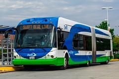CT 29703 (Juan_M._Sanchez) Tags: community transit seattle lynnwood washington bus swift brt everett de60lfa blue 2009 new flyer rapid