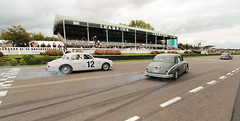 Winners celebration (NaPCo74) Tags: jaguar mk1 1958 1959 jack sears memorial trophy goodwood revival 2018 lord march duke richmond motor circuit historic classic car race racing sussex chichester england british britain burn tyre buy1 canon eos 700d