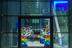 balloon arrangements at the entrance should tell you alot about this cruise (pbo31) Tags: sanfrancisco california nikon d810 color september 2018 city urban boury pbo31 night dark black celebrity solstice cruise ship pier27 terminal embarcadero littleitaly marine travel sail balloons arrangement arrival x