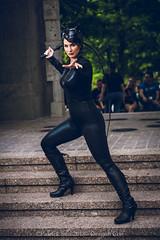 SP_81065 (Patcave) Tags: dragon con dragoncon 2018 dragoncon2018 cosplay cosplayer cosplayers costume costumers costumes catwoman selina kyle dc comics batman villainess slinky whip catonines black leather catsuit