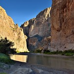 Towering Walls as a Backdrop for a Border with Mexico and the Rio Grande thumbnail