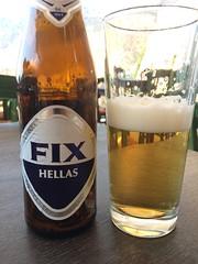 (Paradiso's) Tags: hellas glass kamares bottle fix bier beer greece sifnos øl halv