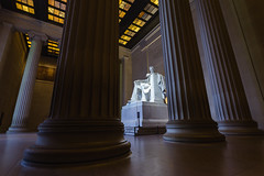 Lincoln At Dawn. Washington, D.C. (Sept. 20, 2018) (Thomas Cluderay) Tags: dc washingtondc washington washingtonian sunrise daybreak dawn photography landmark architecture neoclassical lincoln abelincoln memorial lincolnmemorial nps findyourpark nationalmall