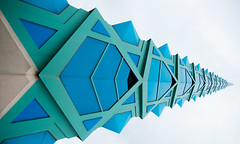 The Spire (Maureen Medina) Tags: maureenmedina artizenimages frank lloyd wright design scottsdale arizona az sculpture glass spire pov flickrfriday