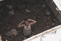 (Graciela A. G.) Tags: factory vintage people look ground girl day eyes face ruins león spain