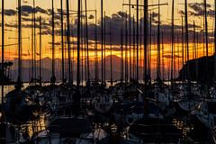 Sunet Moment (aotaro) Tags: a7iii yachtsinharbour fe424105goss magichour yachts sunsettime mountfuji ilce7m3 mtfuji magicmoment sunset