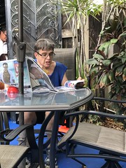 "Catching up on gay news ""not fake."" (LarryJay99 ) Tags: guy male face people gayman men man guys dude studly manly dudes handsome knees leisure patio gaybar masculinegaze"