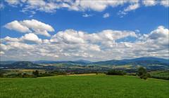 panorama (witoldp) Tags: beskidy beskid żywiecki kotlina żywiecka weadows poland landscape