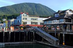 Ketchikan (Anthony Mark Images) Tags: stilts docks downtown mountains ketchikan alaska usa 49thstate nikon d850 sundaylights ketchkanminingco buildings