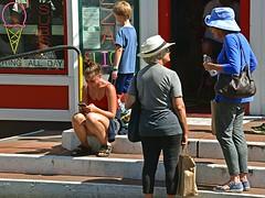 Steps (AntyDiluvian) Tags: massachusetts provincetown ptown capecod commercialstreet steps sitting talking women