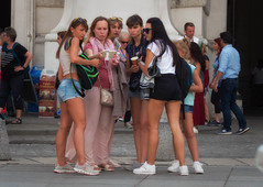 another group, another selfie (try...error) Tags: urban people photographer street streetfotography selfie duckface leica c clux back cheeky naked legs